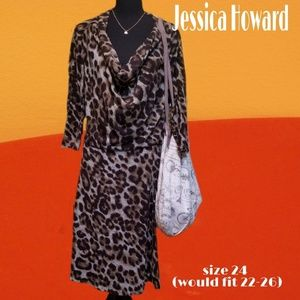 Jessica Howard size 24 leopard print dress